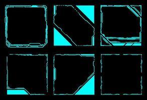 vierkante kaderset hud-elementen