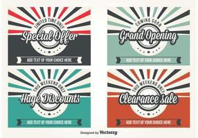 Promotie Retro Style Vector Labels
