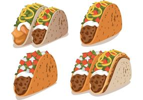 Taco vector pack