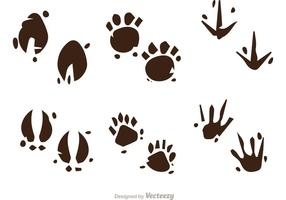 Modderige Animal Footprint Vectors