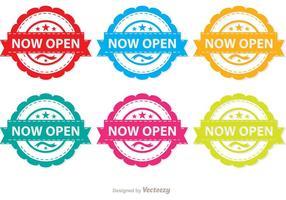 Kleurrijke Nu Open Vector Pakket