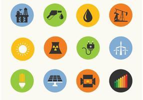 Energie vector iconen