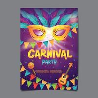 carnaval partij poster vector