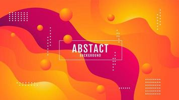 oranje gradiënt abstract golvend ontwerp