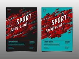 sport beweging voorbladsjabloon set