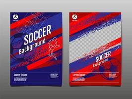 sport banner set met penseelstreken en bal