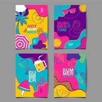 zomer verticale poster set
