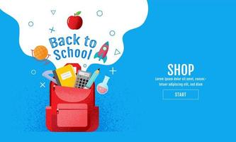 terug naar school blauwe verkoopbanner