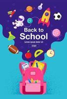 verticaal terug naar school poster