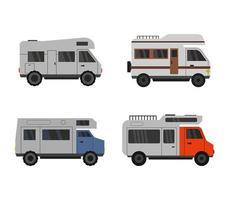 set van campers iconen vector