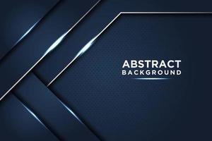 donkerblauwe abstracte achtergrond met glanzende lagen
