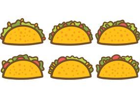 Gratis Taco Vectoren