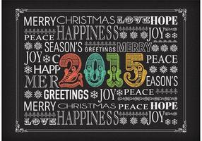 Gratis Vector Krijt New Years Eve Typography