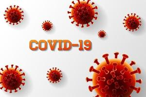 coronavirus covid -19 ontwerp vector