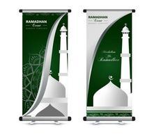 ramadan roll-up banner set vector