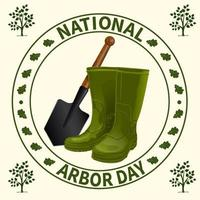 nationale arbor day-badge vector
