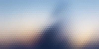 abstract bannerontwerp met driehoekig patroon