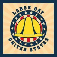 Dag van de Arbeid achtergrond met gele helm