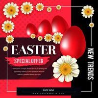 rode Pasen speciale aanbieding poster vector