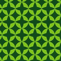 groen retro geometrisch vormpatroon