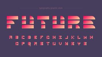 futuristische vormen levendige neon typografie