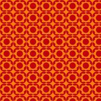 helder oranje en rood retro vormpatroon