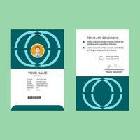 cyaan id-kaart ontwerpsjabloon