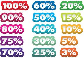 Percentage Vector Stickers