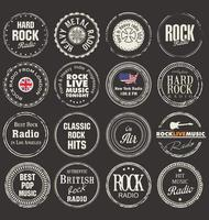 set van rock badge en labels