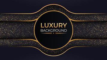 luxe achtergrond met cirkelframe en gouden stippen