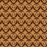 bruin rond nesten geometrische vormen patroon