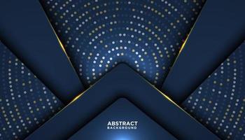 donkerblauwe luxe achtergrond met overlappende vormen