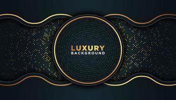 zwarte luxe achtergrond met goud vector
