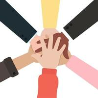 mensen hand in hand samen vector