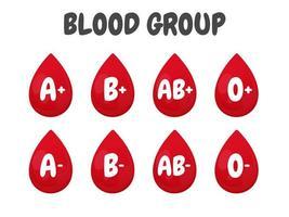 verschillende bloedzakken vector