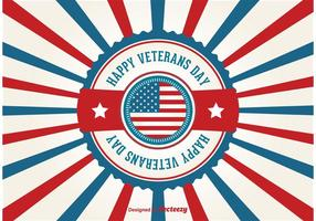 veteranen dag retro poster vector