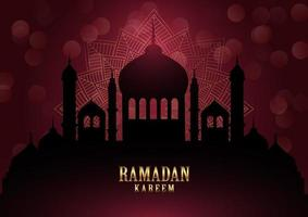 ramadan kareem achtergrond met elegante mandala vector