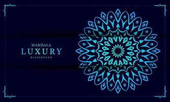 mandala achtergrondontwerp in blauwe kleur vector