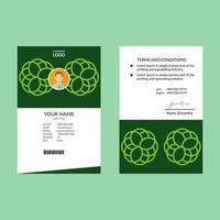 verticale groene abstracte groene identiteitskaart ontwerpsjabloon