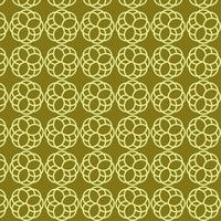 lime retro groen in elkaar grijpende vormen patroon
