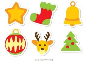 Kerst Decoratie Vector Pack 1
