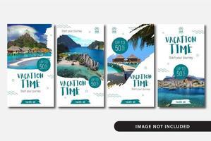 vakantie vakantie verhalen sjablonen vector