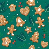 peperkoek cookie patroon met bladeren
