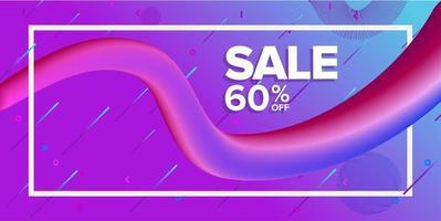 dynamische vorm verkoop banner met diagonale lijnen