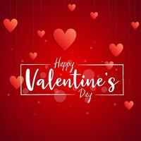 '' happy valentine's day '' handschrift in rechthoekkader