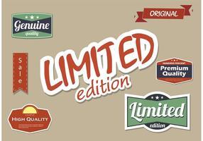 Hoge kwaliteit en Beperkte Uitgave Vector Label Set