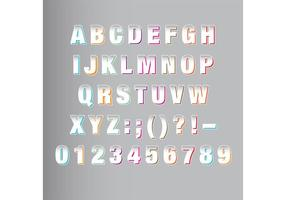 Witte Origami Font Vector