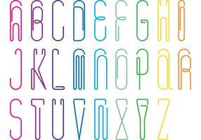 Papier Clip Alfabet Vector pakket