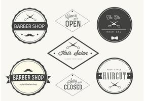 Trendy Barber Shop Labels vector