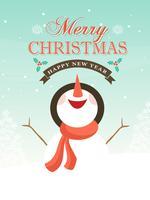 Gratis Vector Sneeuwpop Kerst Achtergrond